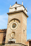 Clock tower of Palace of Reason in Mantua, Italy Stock Photo