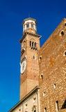 Clock tower of Palazzo della Ragione in Verona Stock Images