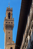 Clock tower of the Palazzo Vecchio in Florence
