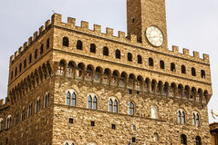 The clock tower of Palazzo Vecchio Royalty Free Stock Photo