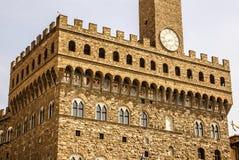 The clock tower of Palazzo Vecchio Royalty Free Stock Photo