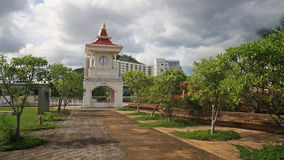 clock tower at the park in Phuket Stock Image