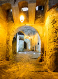 Clock tower passage in Sighisoara Royalty Free Stock Images