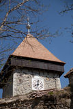 Clock tower of peasant fortress Drauseni Stock Image