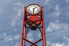 Clock tower in Petoskey Michigan Royalty Free Stock Image