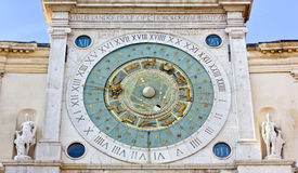 Clock tower in the Piazza dei Signori in Padua, Italy Royalty Free Stock Images