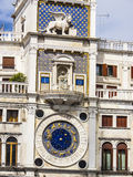Clock tower on the Piazza San Marco in Venice Royalty Free Stock Photo