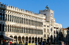 The Clock Tower on Piazza San Marco in Venice Royalty Free Stock Photography
