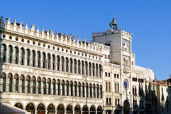 The Clock Tower on Piazza San Marco in Venice Royalty Free Stock Photos