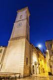 Clock Tower on Place de l`Horloge in Nimes Stock Photography