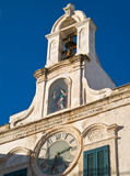 Clock tower of Polignano. Apulia. Royalty Free Stock Image