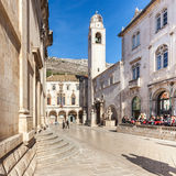 Clock tower from 1444, a popular tourist attraction in Dubrovnik, Croatia Royalty Free Stock Photography