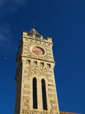 Clock Tower Porthleven. The Bickford Smith Institute clock tower built in 1882 has been a long time landmark of the Cornish village of Porthleven standing at the Stock Photography