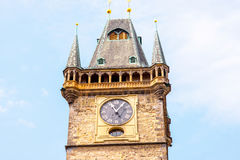 Clock tower in Prague Royalty Free Stock Photography