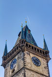 The clock tower in Prague Royalty Free Stock Photos