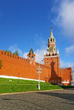 Clock tower on the Red Square in Moscow Russia Stock Images