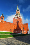 Clock tower on the Red Square in Moscow Russia Stock Photo