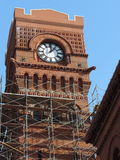 Clock Tower Renovation Stock Image