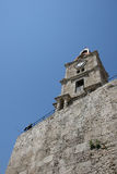 Clock tower in Rhodes, Greece Stock Photo