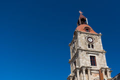 Clock Tower of Rhodes Royalty Free Stock Image