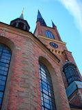 The clock on the tower of the Riddarholm Church in Stockholm, Sw Stock Photography