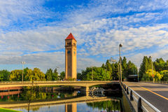 Clock Tower. In Riverfront park, Spokane, Washington Royalty Free Stock Photography