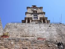 Clock Tower Roloi Rhodes Greece Stock Photo