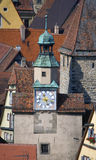 Clock Tower, Rothenburg ob der Tauber Royalty Free Stock Image