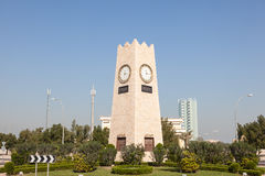 Clock tower roundabout in Kuwait City Stock Photos