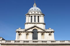 Clock tower of Royal Naval College Stock Image
