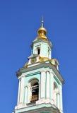 Clock tower of russian church Stock Photo
