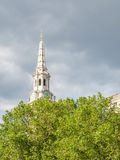 Clock tower of Saint Martin-in-the-fileds church in London Royalty Free Stock Images