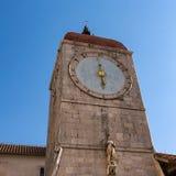 Clock Tower of Saint Sebastian Church in the Center of Trogir Royalty Free Stock Photo