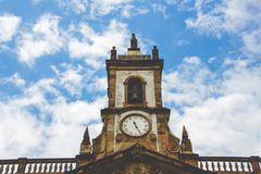 Clock tower in Salvador, Bahia. A clock tower in Pelourinho, in the city of Salvador Stock Photo