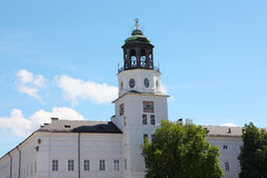 Clock tower in salzburg cathedral Royalty Free Stock Images