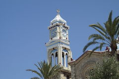Clock tower Samos Stock Photo
