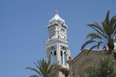 Clock tower Samos stock photo