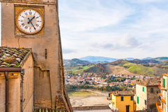 The Clock Tower of Sassocorvaro Stock Photos