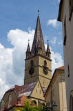 The clock tower of the Sibiu Royalty Free Stock Photography