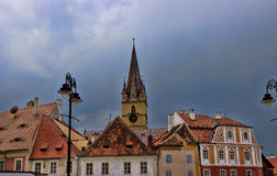 The clock tower of the Sibiu Royalty Free Stock Images
