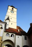 Clock Tower in Sibiu Royalty Free Stock Photo