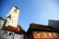 Clock Tower in Sibiu Royalty Free Stock Image