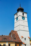 Clock tower Sibiu stock photos