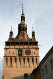 Clock Tower in Sighisoara Royalty Free Stock Image