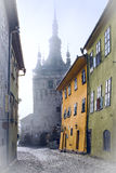 Clock Tower. Of Sighisoara Medieval Fortress stock images
