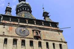 Clock Tower. Sighisoara medieval old Royalty Free Stock Images