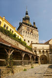 Clock tower in Sighisoara Stock Photo