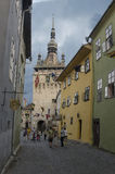 Clock tower in Sighisoara Stock Photography