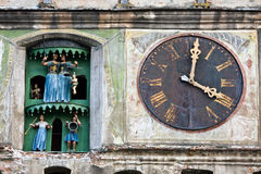 Clock Tower, Sighisoara, Romania Stock Images