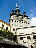 Clock tower, Sighisoara, Romania Stock Photo